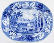 Meat Dish or Platter with tree and well c1825