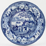 Unattributed Maker Chinese Flowering Pot Plate c1825