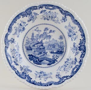Minton Chinese Marine Soup Plate c1830