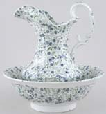 Ewer and Bowl c1880
