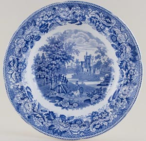 Soup Plate Hexham Abbey c1825