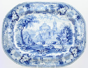 Meat Dish or Platter with tree and well c1845