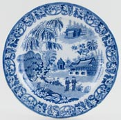 Unattributed Maker Malayan Long House Plate c1820