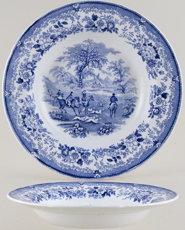 Bell Sporting Subjects Soup Plate c1860