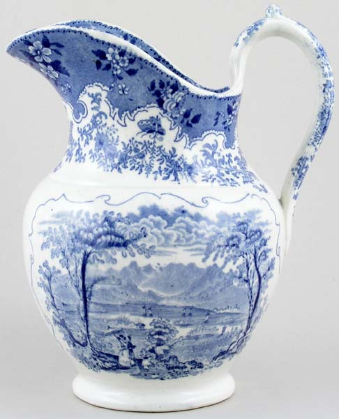 Masons British Lakes Series Ewer Derwentwater c1835