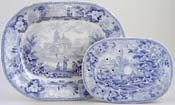 Meat Dish or Platter with Drainer c1840