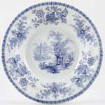 Unattributed Maker Vase Soup Plate c1840