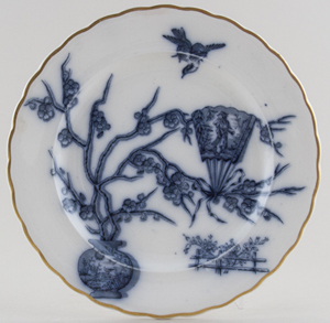 Davenport Fan grey Plate c1882