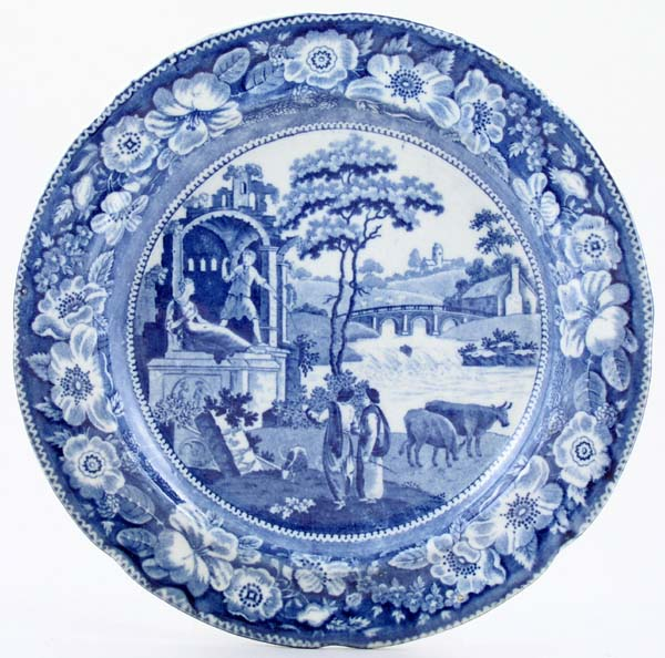 Unattributed Maker The Philosopher Plate c1820