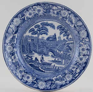 Unattributed Maker Wild Rose Plate c1840