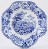 Spode Aesops Fables Dish dessert The Dog and The Sheep c1830