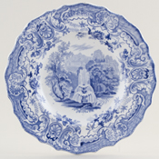 Wood Fountain Plate c1840