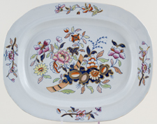 Davenport Number 659 colour Meat Dish or Platter c1830