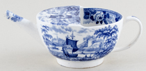 Wedgwood Blue Rose Border Feeding Cup c1835