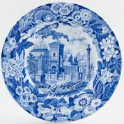 Don Pottery Italian and Sicilian Views Series Soup Plate View in Palma c1825