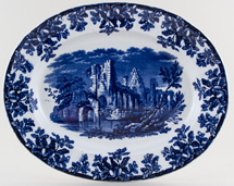 Spode Ruins Meat Dish or Platter c1875