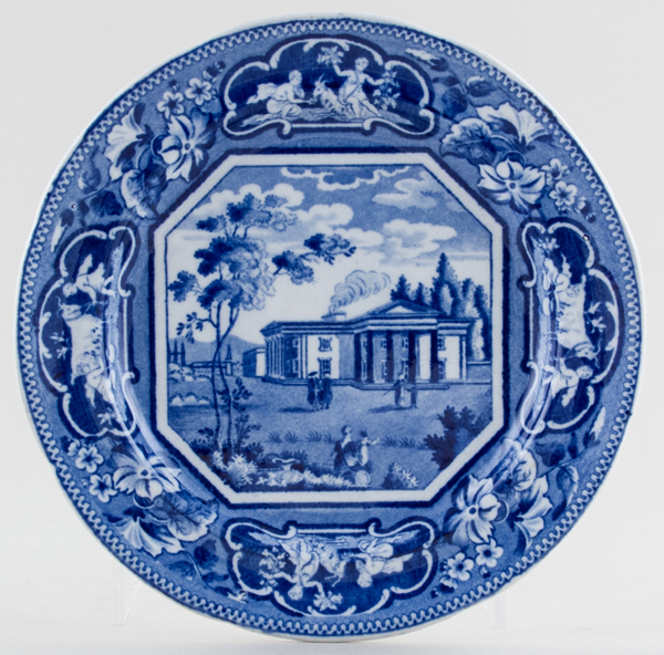Ridgway Oxford and Cambridge College Series Plate Downing College Cambridge c1825