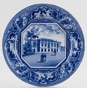 Ridgway Oxford and Cambridge College Series Plate Senate House Cambridge c1825