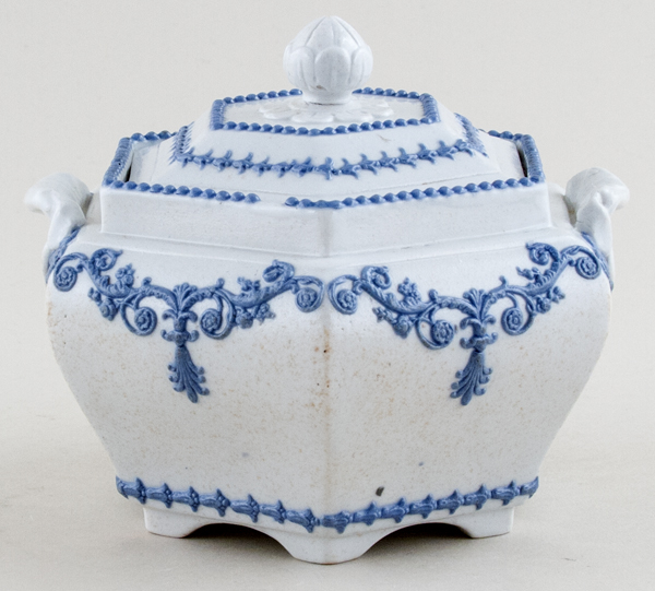 Ridgway Unidentified Pattern Sugar Box c1835