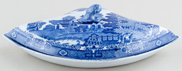 Spode Forest Landscape Supper Set Segment c1820