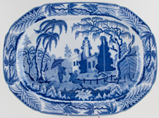 Meat Dish or Platter large c1815