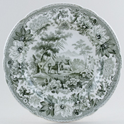 Plate The Dog and The Sheep c1830
