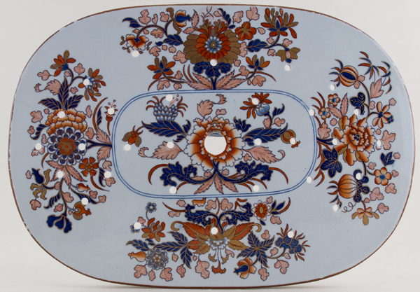 Spode Number 2086 blue with colour Drainer c1814