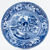 Unattributed Maker Family and Mule Plate c1840