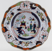 Ridgway Unidentified Pattern colour Soup Plate c1835