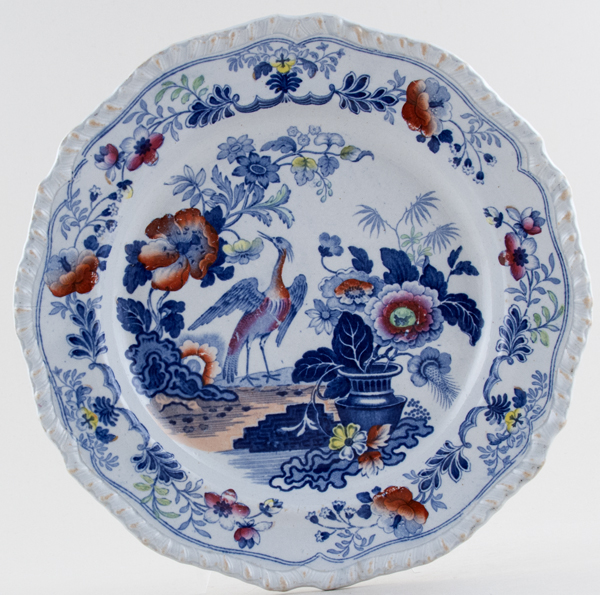 Stevenson Unidentified Pattern blue with colour Plate