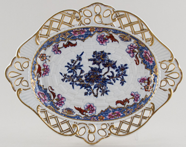 Spode Number 3091 blue with colour Stand c1821