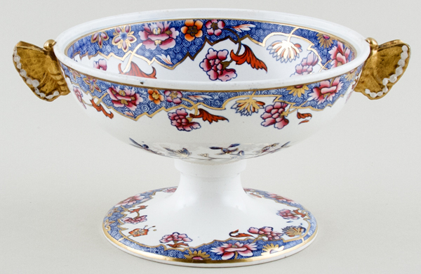 Spode Number 3091 blue with colour Cream Bowl c1821