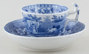 Spode Milkmaid Coffee Cup and Saucer c1820