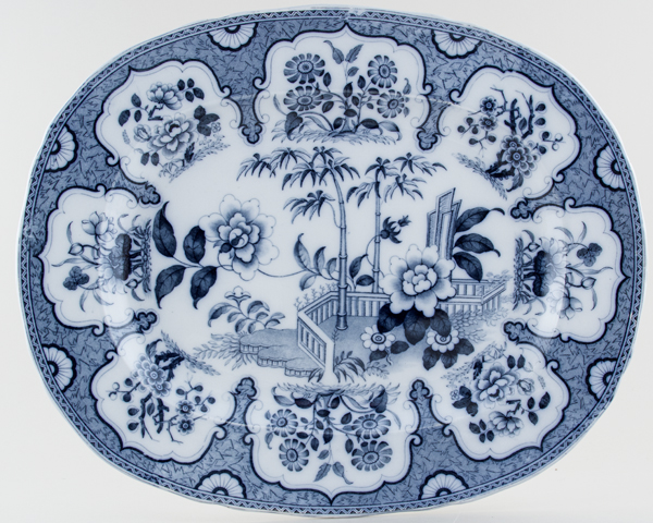 Minton Mooltan grey Meat Dish or Platter c1851