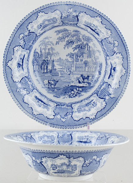 Unattributed Maker Arcadia Bowl c1840