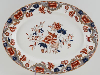 Spode Unidentified Pattern colour Meat Dish or Platter c1890