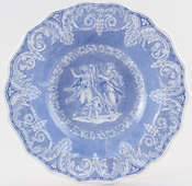Elkin Knight and Bridgwood Etruscan Soup Plate c1830