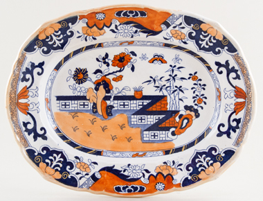 Masons Zig Zag Wall colour Platter c1835