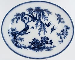 Beech Asiatic Meat Dish or Platter c1880