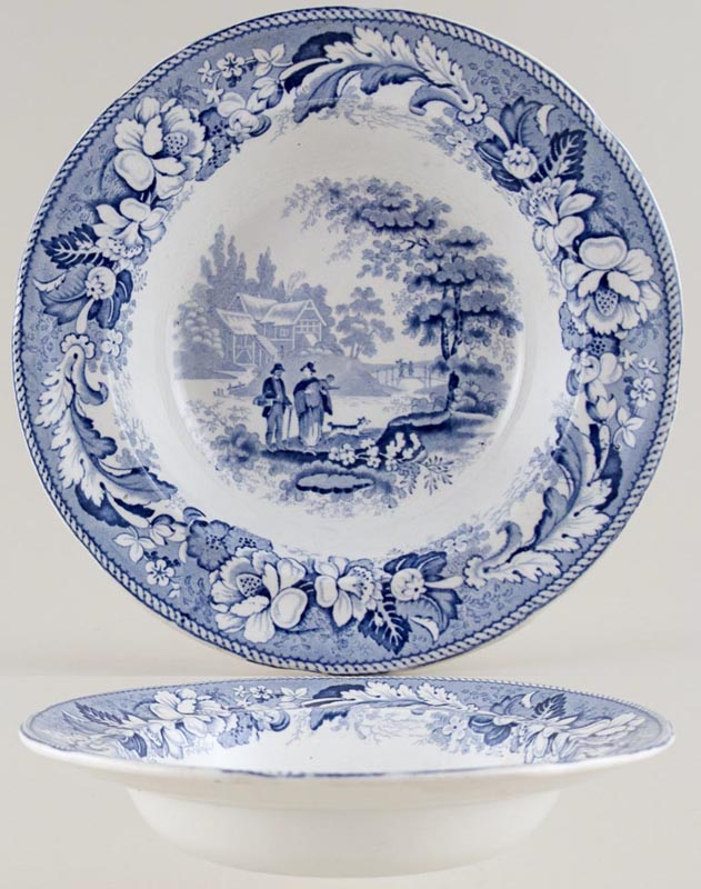 Unattributed Maker The Villagers Soup Plate c1825