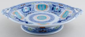 Minton Unidentified Pattern colour Comport c1862