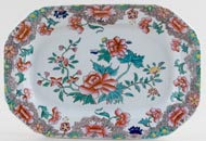 Spode Number 3125 colour Platter small c1840