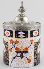 Taylor Tunnicliffe Unidentified Pattern colour Covered Jar c1880