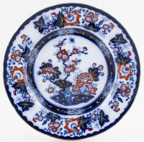Alcock Bombay Japan blue with colour Plate c1835