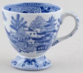 Unattributed Maker Two Temples Custard Cup 1830