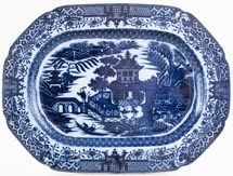 Unattributed Maker Two Figures Platter c1820
