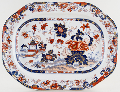 Meigh Amherst Japan colour Meat Dish or Platter c1840