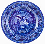 Mayer Arms of the States Series Plate c1830 New York