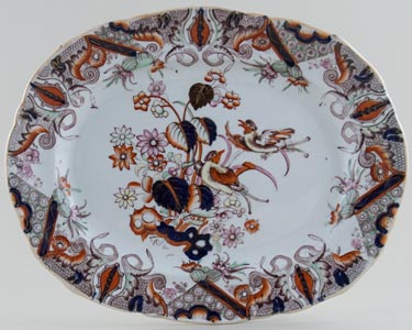 Unattributed Maker Unidentified Pattern colour Platter c1835