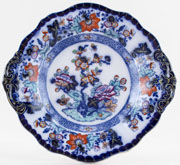 Minton Bombay Japan blue with colour Dish Dessert c1845